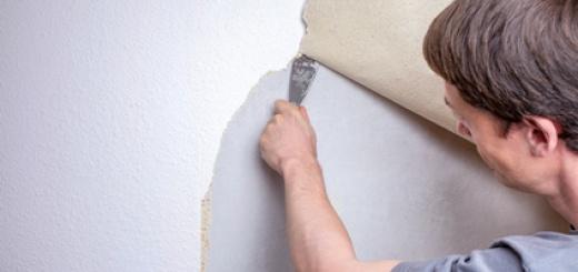 Alte Tapeten mit Hausmitteln von Wänden entfernen