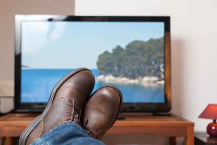 Erholung und Entspannung in einem Fernsehsessel