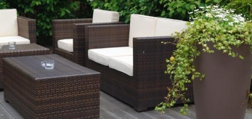 Wie überwintere ich Gartenmöbel aus Polyrattan?